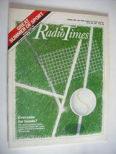 <!--1984-06-23-->Radio Times magazine - Tennis cover (23-29 June 1984)