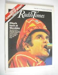 <!--1984-06-30-->Radio Times magazine - Elton John cover (30 June - 6 July