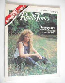 <!--1984-07-07-->Radio Times magazine - Cheryl Campbell cover (7-13 July 19
