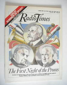 <!--1984-07-14-->Radio Times magazine - The First Night of the Proms cover