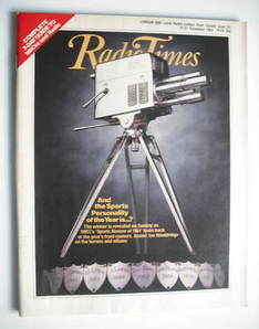 <!--1984-12-15-->Radio Times magazine - Sports Personality cover (15-21 Dec