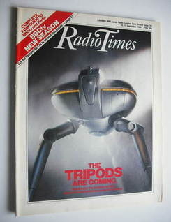 <!--1984-09-15-->Radio Times magazine - The Tripods Are Coming cover (15-21