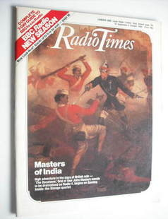 <!--1984-09-29-->Radio Times magazine - Masters of India cover (29 Septembe