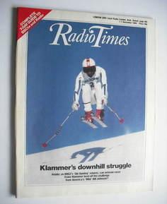 <!--1984-12-01-->Radio Times magazine - Klammer's Downhill Struggle cover (