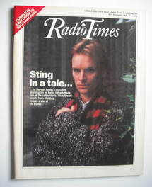 <!--1984-12-08-->Radio Times magazine - Sting cover (8-14 December 1984)