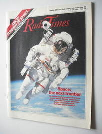 <!--1984-07-21-->Radio Times magazine - Space cover (21-27 July 1984)