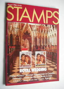 Stamps magazine - August 1986 - Royal Wedding cover