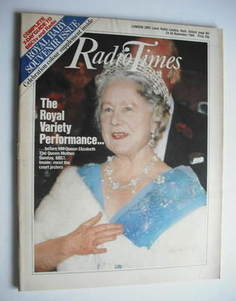 <!--1984-11-24-->Radio Times magazine - HM The Queen Mother cover (24-30 No