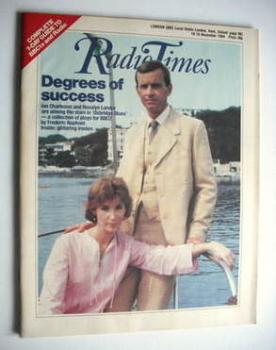 Radio Times magazine - Ian Charleson and Rosalyn Landor cover (10-16 November 1984)