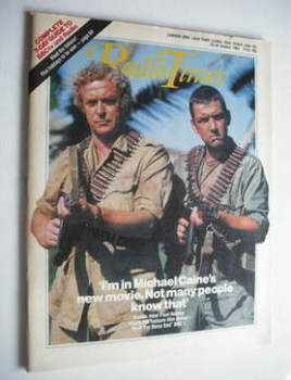Radio Times magazine - Michael Caine and Paul Heiney cover (20-26 October 1984)