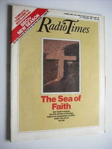 <!--1984-09-08-->Radio Times magazine - The Sea of Faith cover (8-14 Septem