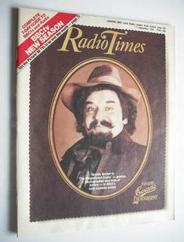 <!--1984-09-01-->Radio Times magazine - Ronnie Barker cover (1-7 September