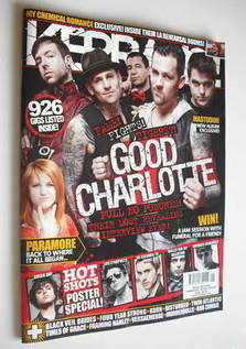 <!--2011-02-05-->Kerrang magazine - Good Charlotte cover (5 February 2011 -