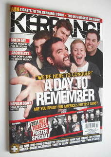 <!--2011-01-22-->Kerrang magazine - A Day To Remember cover (22 January 201