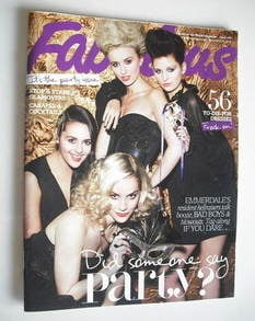 <!--2010-11-14-->Fabulous magazine - Emmerdale Girls cover (14 November 201