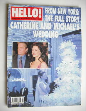<!--2000-11-28-->Hello! magazine - Michael Douglas and Catherine Zeta Jones