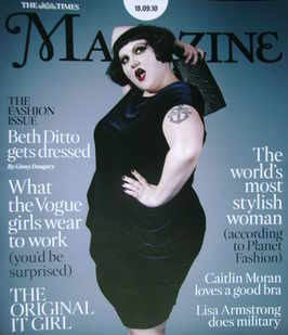 <!--2010-09-18-->The Times magazine - Beth Ditto cover (18 September 2010)