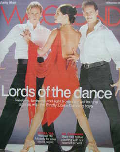 <!--2007-11-24-->Weekend magazine - Matthew Cutler and Brendan Cole cover (24 November 2007)