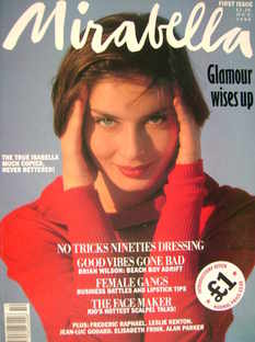 Mirabella magazine - Isabella Rossellini cover (October 1990 - Issue 1)