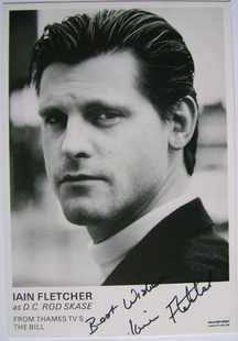 Iain Fletcher autograph (ex The Bill actor)