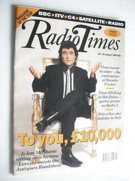 <!--1992-01-18-->Radio Times magazine - Ian McShane cover (18-24 January 19