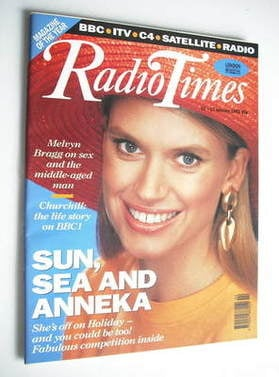 <!--1992-01-11-->Radio Times magazine - Anneka Rice cover (11-17 January 19