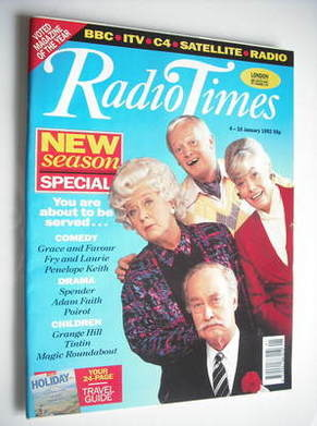 <!--1992-01-04-->Radio Times magazine - Are You Being Served? cover (4-10 J