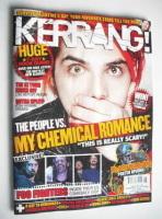 <!--2011-02-12-->Kerrang magazine - Gerard Way cover (12 February 2011 - Issue 1350)