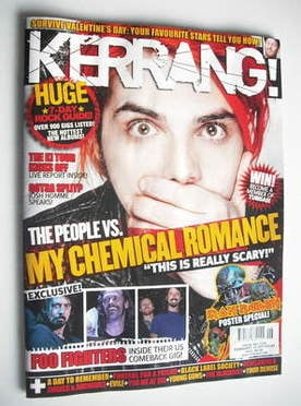 <!--2011-02-12-->Kerrang magazine - Gerard Way cover (12 February 2011 - Is