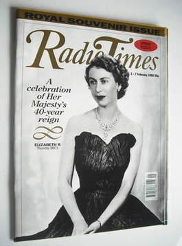 <!--1992-02-01-->Radio Times magazine - Queen Elizabeth II cover (1-7 Febru