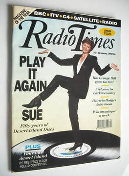 <!--1992-01-25-->Radio Times magazine - Sue Lawley cover (25-31 January 199