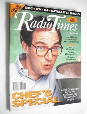 <!--1992-05-02-->Radio Times magazine - Loyd Grossman cover (2-8 May 1992)