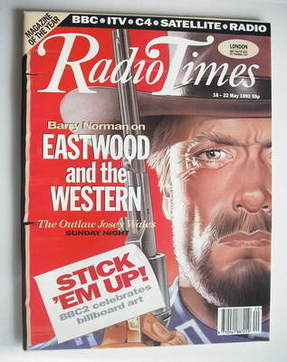 <!--1992-05-16-->Radio Times magazine - Clint Eastwood cover (16-22 May 199