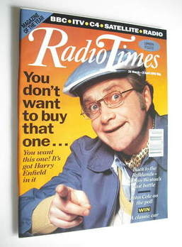 <!--1992-03-28-->Radio Times magazine - Harry Enfield cover (28 March - 3 A