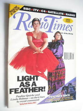 <!--1992-05-23-->Radio Times magazine - Pauline Quirke and Linda Robson cov