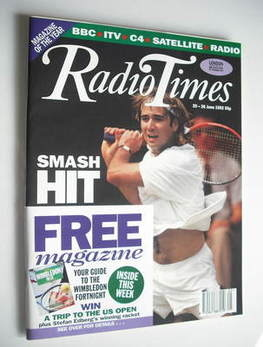 <!--1992-06-20-->Radio Times magazine - Andre Agassi cover (20-26 June 1992