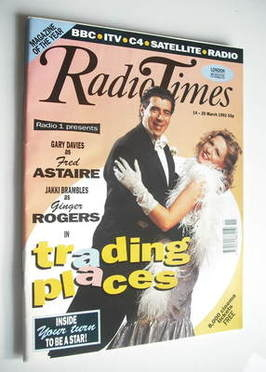 <!--1992-03-14-->Radio Times magazine - Gary Davies and Jakki Brambles cove