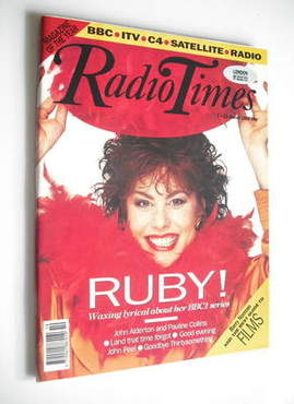 <!--1992-03-07-->Radio Times magazine - Ruby Wax cover (7-13 March 1992)