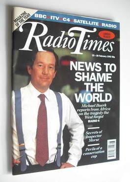 <!--1992-02-22-->Radio Times magazine - Michael Buerk cover (22-28 February