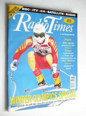 <!--1992-02-08-->Radio Times magazine - Winter Olympics Special cover (8-14