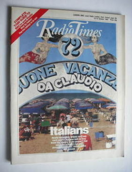 Radio Times magazine - Italians cover (13-19 October 1984)