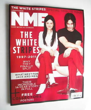 <!--2011-02-12-->NME magazine - The White Stripes cover (12 February 2011)