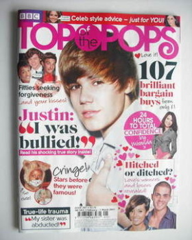 Top Of The Pops magazine - Justin Bieber cover (2 February - 1 March 2011)