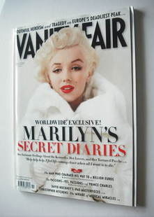 Vanity Fair magazine - Marilyn Monroe cover (November 2010)