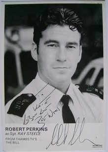 Robert Perkins autograph (ex The Bill actor)