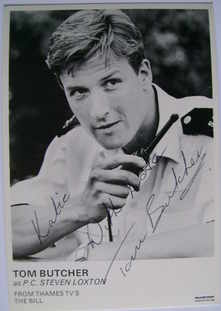 Tom Butcher autograph (ex The Bill actor)