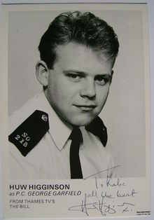 Huw Higginson autograph (ex The Bill actor)