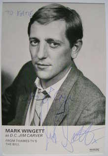 Mark Wingett autograph (ex The Bill actor)