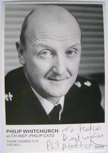 Philip Whitchurch autograph (ex The Bill actor)