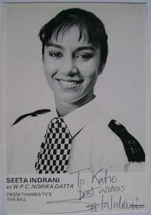 Seeta Indrani autograph (ex The Bill actor)